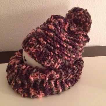 Mütze und Schal Paris