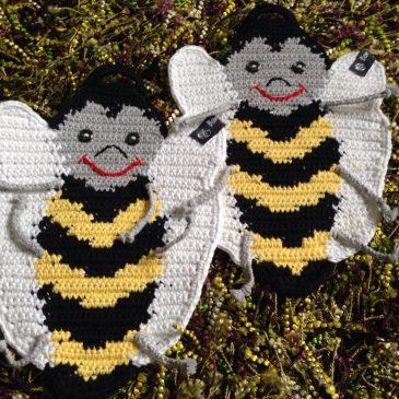 Topflappen Heiße Biene